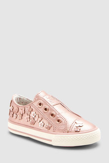 Next Embellished Laceless Trainers (Younger)