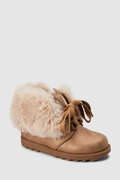 Next Faux Fur Character Boots (Younger)