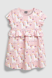 Next Unicorn Print Dress (3mths-6yrs)