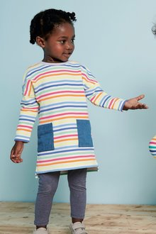 Next Long Sleeve Stripe Dress (3mths-6yrs)