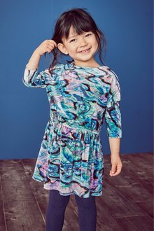 Next Velour All Over Print Dress (3mths-6yrs)