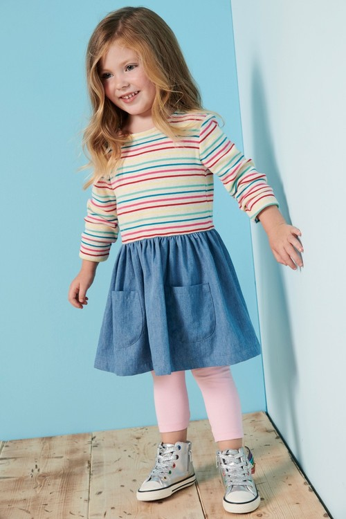 Next Stripe And Denim Dress (3mths-6yrs)