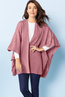 Capture Merino Self Stripe Cape - 219618