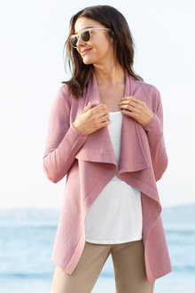 Capture Merino Waterfall Cardigan