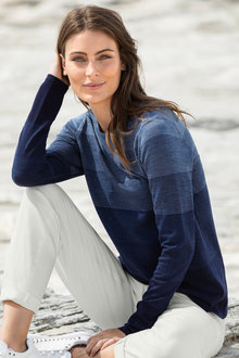 Capture Merino Variegated Stripe Sweater