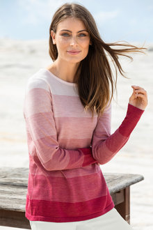 Capture Merino Variegated Stripe Sweater