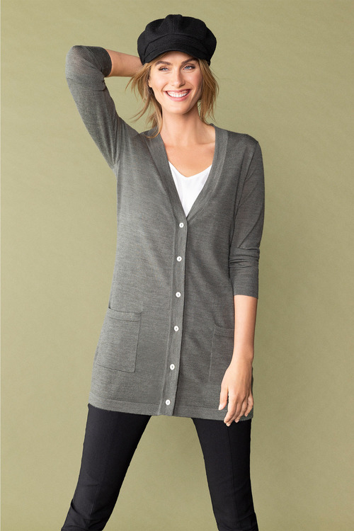 Capture Merino Button Up Cardigan
