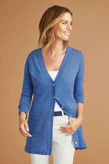 Capture Merino Button Up Cardigan - 219627