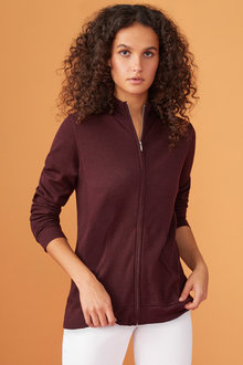 Capture Merino Full Zip Cardigan - 219629