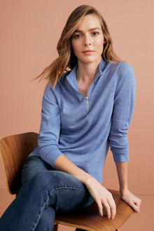 Capture Merino Half Zip Sweater - 219630