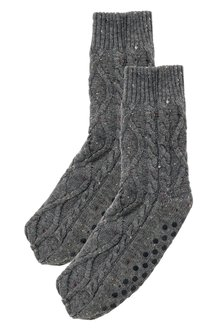 Next Cable Slipper Socks