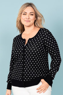 Plus Size - Sara Button Thru Cardi