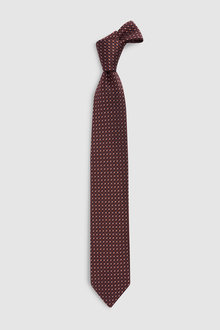 Next Signature Pattern Italian Fabric Tie