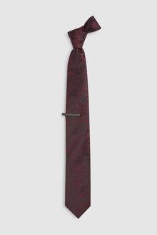 Next Paisley Tie And Tie Clip Set