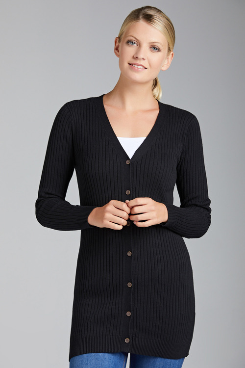 Capture Ribbed Longline Cardigan