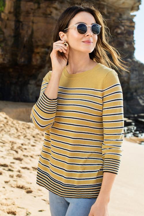 Capture Stripe Lightweight Knit Sweater