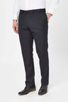 Next Wool Blend Textured Trousers - Slim Fit