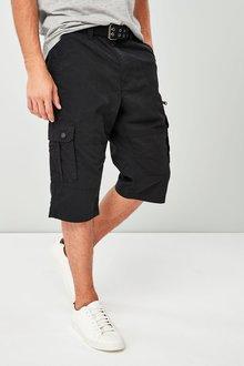Next Belted Longer Cargo Shorts