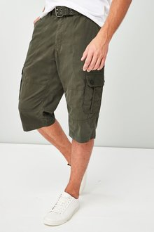 Next Belted Longer Cargo Shorts