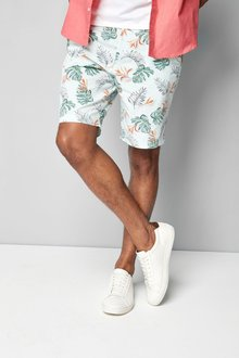 Next Hibiscus Print Shorts