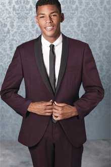 Next Slim Fit Shawl Collar Tuxedo Suit: Trousers