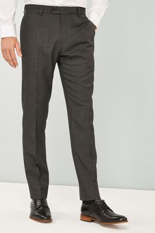 Next Puppytooth Wool Blend Slim Fit Trousers