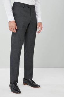 Next Puppytooth Wool Blend Regular Fit Trousers