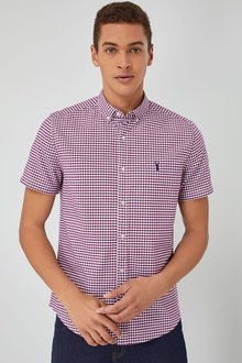 Next Short Sleeve Gingham Shirt