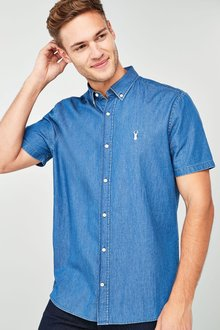 Next Short Sleeve Denim Shirt