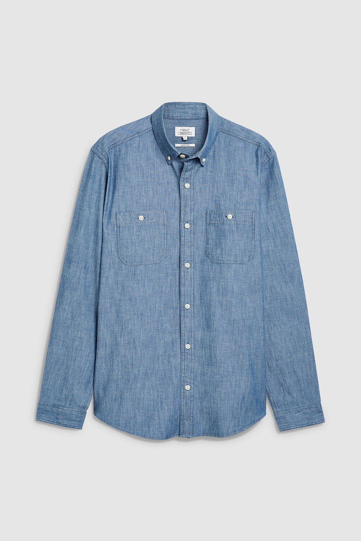 e76214360385d5 Next Long Sleeve Chambray Shirt Online