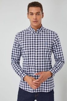 Next Long Sleeve Check Poplin Shirt