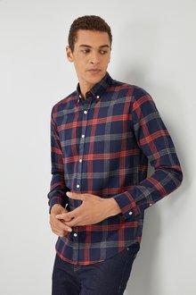 Next Long Sleeve Brushed Check Shirt