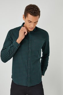 Next Long Sleeve Brushed Check Shirt