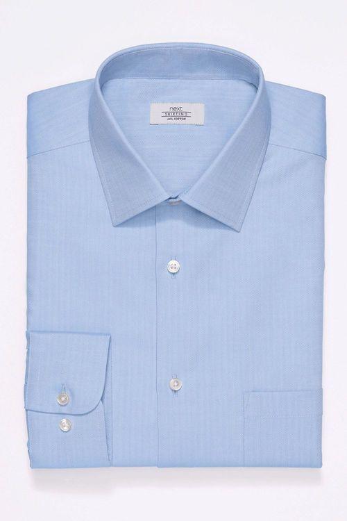 Next Non-Iron Shirt - Slim Fit Single Cuff