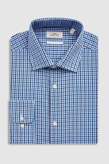 Next Check Shirt - Slim Fit Single Cuff