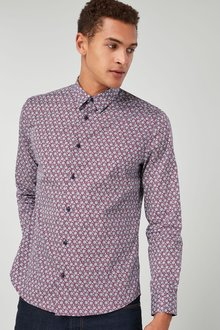 Next Long Sleeve Geo Print Shirt