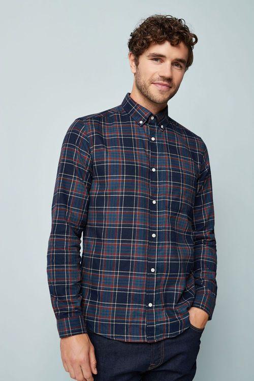 Next Long Sleeve Flannel Check Shirt