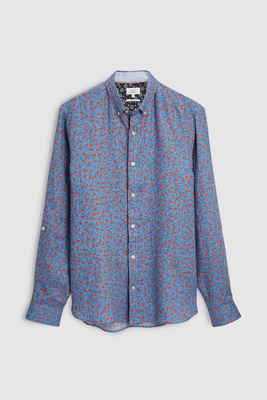 35eaf53ce4 Next Long Sleeve Pure Linen Floral Shirt Online   Shop EziBuy