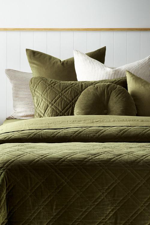 Windsor Quilted Velvet Pillowcases Set of 2