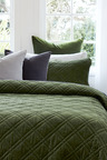 Windsor Quilted Velvet Pillowcases Set of 2