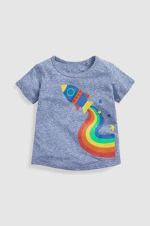 Next Short Sleeve Rainbow Rocket T-Shirt (3mths-6yrs)