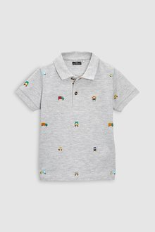 Next Embroidered Short Sleeve Polo (3mths-6yrs)