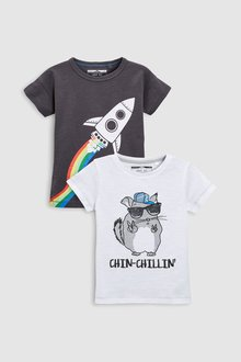 Next Character T-Shirts Two Pack (3mths-6yrs)