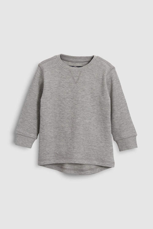 Next Textured Long Sleeve T-Shirts Three Pack (3mths-6yrs)