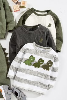 Next Dinosaur T-Shirts Three Pack (3mths-6yrs)