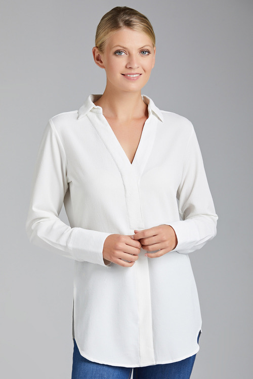 Capture Textured Concealed Placket Shirt