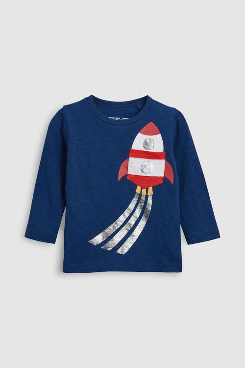Next Foil Rocket Long Sleeve T-Shirt (3mths-6yrs)
