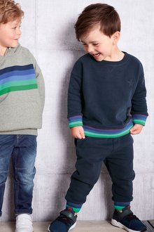 Next Rainbow Cuff Crew And Jogger Set (3mths-6yrs)