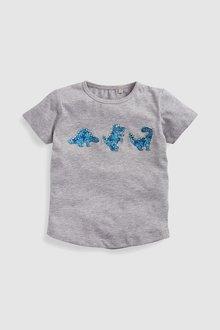 Next Short Sleeve Dinosaur T-Shirt (3mths-6yrs)