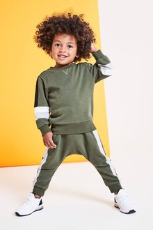 Next Colourblock Crew And Joggers Set (3mths-6yrs)
